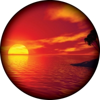 Ocean Sunset Wheel Cover