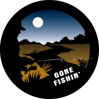 Gone Fishin' Spare Tyre Cover
