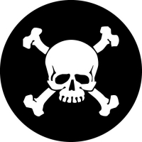 Skull and Crossbones Spare Wheel Cover Design
