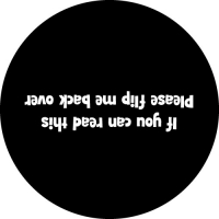 If you can read this, please flip me back over wheel cover