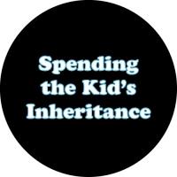 Spending the Kids Inheritance Tyre Cover