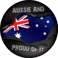 Aussie and Proud of it Spare Wheel Cover Design
