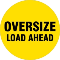 Oversize Load Ahead safety spare wheel cover