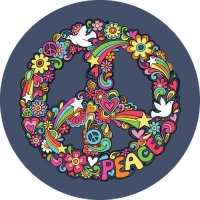 Peace Wreath Spare Tyre Cover