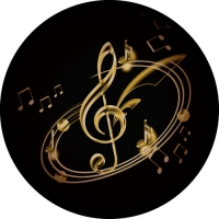 Musical Notes and Clef printed in full colour on your spare wheel cover