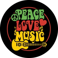 Peace Love Music Spare Wheel Cover Design