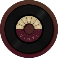 Old School Vinyl 45 Record printed in full colour on your spare tyre cover