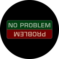 No Problem - Problem. Funny warning on your 4x4 spare tyre cover.
