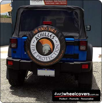 Eye catching tyre cover design for Achilles Fire Protection
