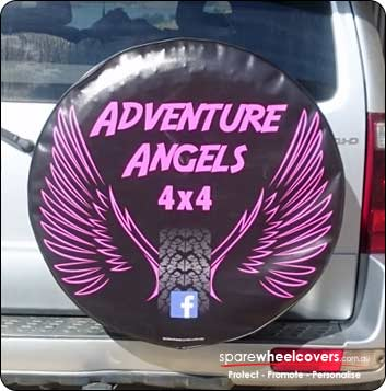Personalised spare tyre cover design for 4wd clubs.