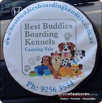 Best Buddies Boarding spare wheel cover