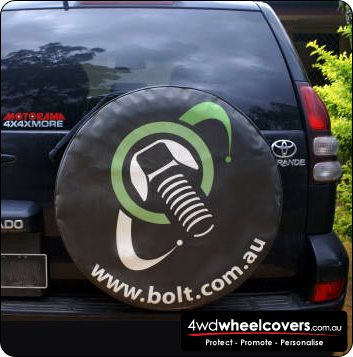 Bolt spare tyre cover design