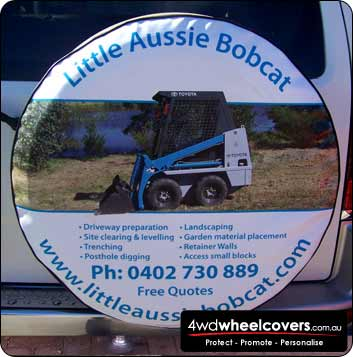 Spare wheel cover design for Little Bobcat Hire