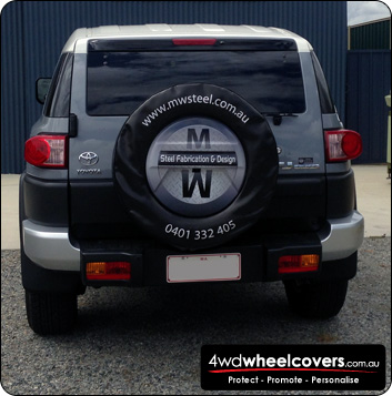 MW Steel spare tyre cover for Toyota