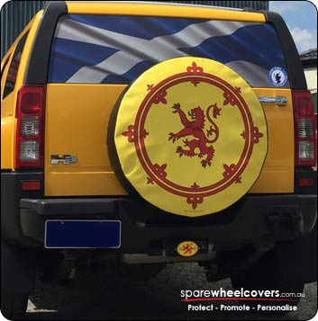 Rampant Lion Spare Tyre Cover Design