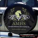 Photo of AMHS spare tyre cover design.