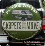 Image of Carpets on the Move spare tyre cover.