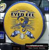 Spare Tyre Cover for Eels supporters group.