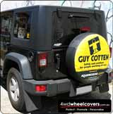 Jeep spare wheel cover for Guy Cotten.