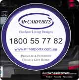 Mr Carports Spare Wheel Cover Design.