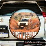 Custom design spare wheel cover.
