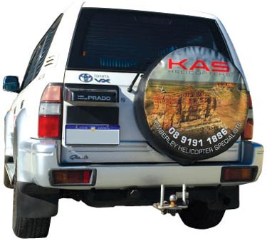 4wd with spare tyre cover artwork in a high quality design