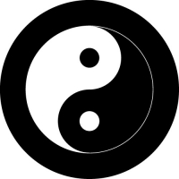 Yin Yang Symbol on your custom wheel cover