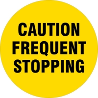 Caution Frequent Stopping Safety Wheel Cover