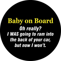 Baby On Board funny spare wheel cover