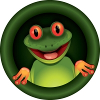 Funny suprised looking frog on your spare tyre cover