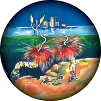 Grass Trees with Perth city in the background spare tyre cover design