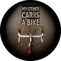 My other car is a bike spare tyre cover design