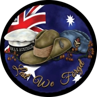 Lest We Forget - Australian Army, Navy and Air Force Spare Tyre Cover Design