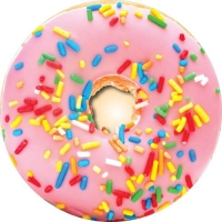 Spare tyre cover with a huge pink doughnut! Yum!!