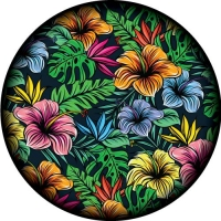 Floral Feel Spare Tyre Cover