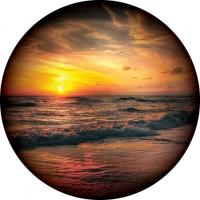 OZ Beach Sunset Wheel Cover