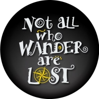 Not All Who Wander Are Lost Spare Wheel Cover Design