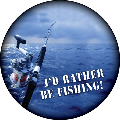 I'd Rather be Fishing Spare Wheel Cover