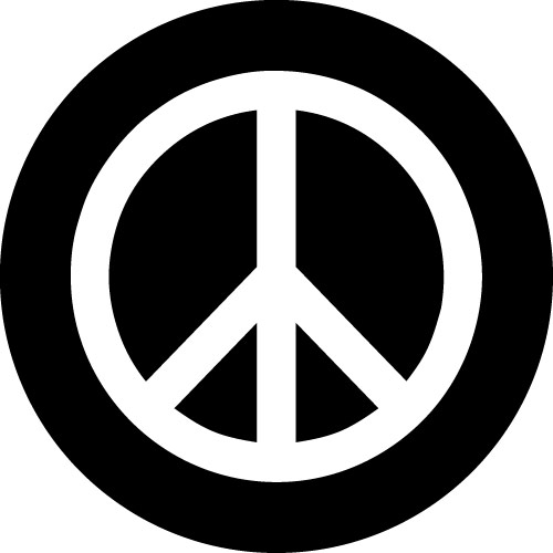 Peace Symbol Wheel Cover