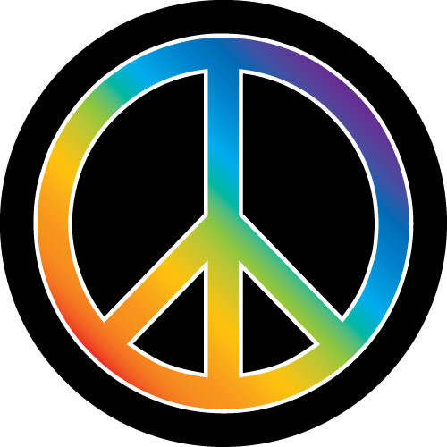 Peace Rainbow symbol Spare Wheel Cover
