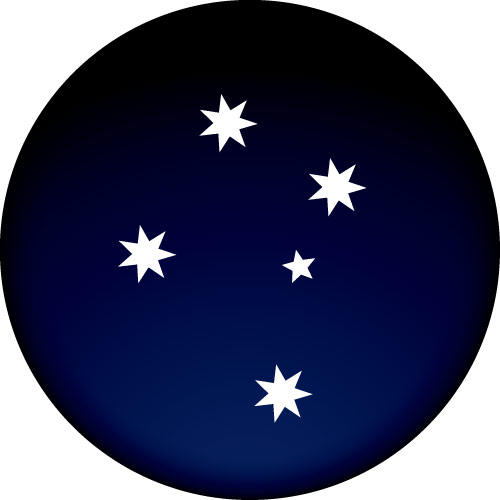 Southern Cross Spare Wheel Cover Design
