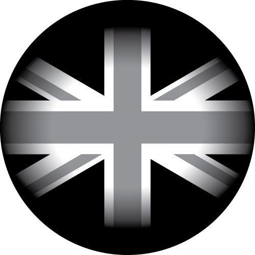 Grey UK Flag spare wheel cover design