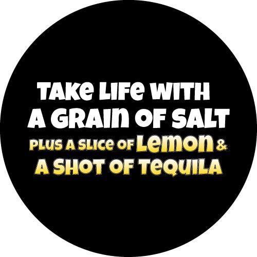 Salt Lemon Tequila Spare Wheel Cover