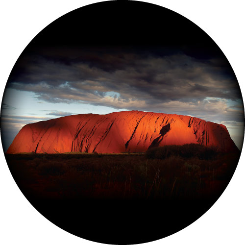Uluru (Ayers Rock) spare wheel cover