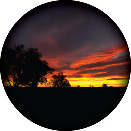 Outback Sunrise Spare Wheel Cover Design