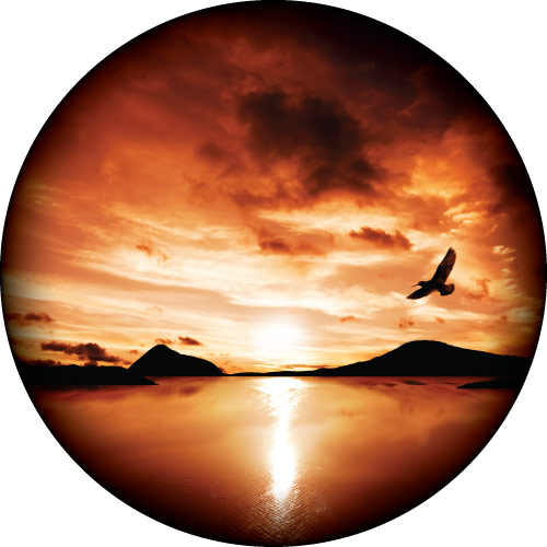 Flying Free Sunset Spare Wheel Cover