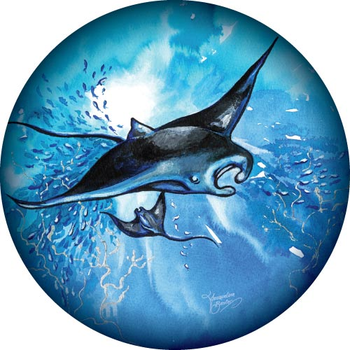 Mantaray painting on your spare tyre covers.