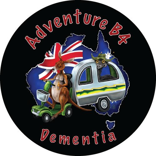Aussie Mates - Adventure B4 Dementia spare tyre cover design for caravans and 4wd