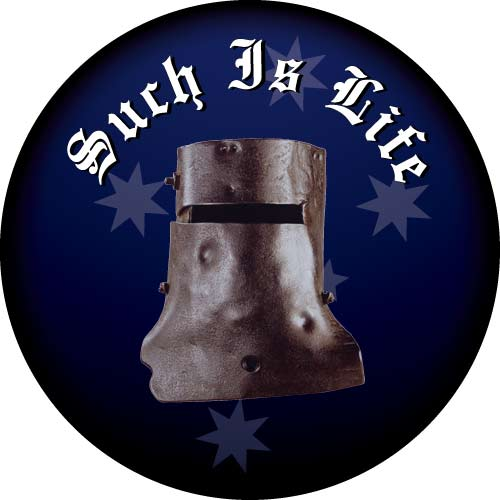 Spare Tyre Cover with Ned Kelly, Such is Life Design. Printed in striking full colour.