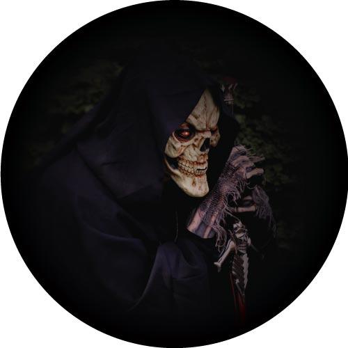 Grim Reaper Spare Tyre Cover Design